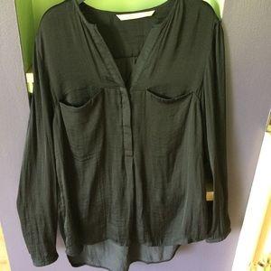 Zara Black Flowy Blouse Size Small